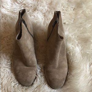 Club Monaco Shoes - Club Monaco Booties! Tan Suede booties.